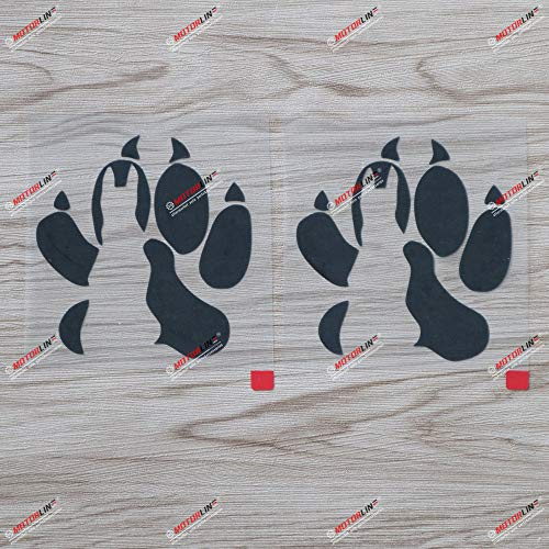 2X Black 4'' German Shepherd Dog Decal Sticker Car Vinyl K9 K-9 Police Unit Paw