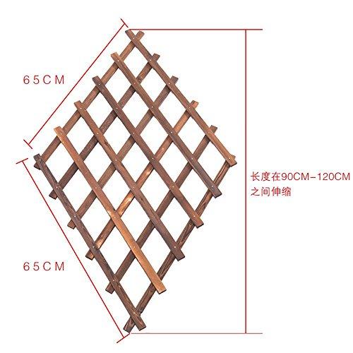 LLLXUHA En bois la grille pendaison Support de fleurs, intérieur mur Présentoir, Cadre décoratif , Primary Color , 65*65CM