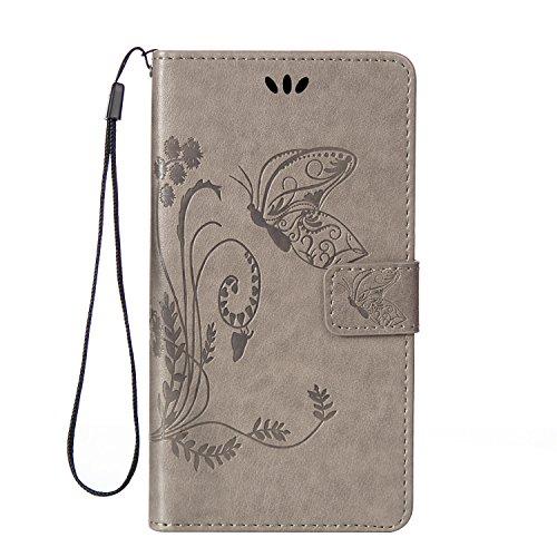 Sony Xperia Z5 Compact Hülle Coozon Premium PU Leder Hülle Ledertasche Flip Schutzhülle Tasche mit St?nderfunktion & Kartenf?cher Für Sony Xperia Z5 Compact (4.6 Zoll)