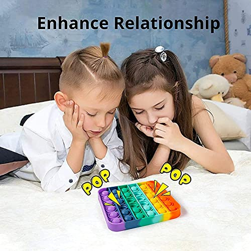 Push Pop it Bubble Fidget Toy, Stress Relief and Anti-Anxiety Tools Sensory Toy for Autism to Relieve Stress for Kids and Adults 4