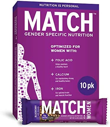 MATCH Womens Almond Blueberry Raisins Nutrition Bar 1 6 oz Bar Pack of 10 product image