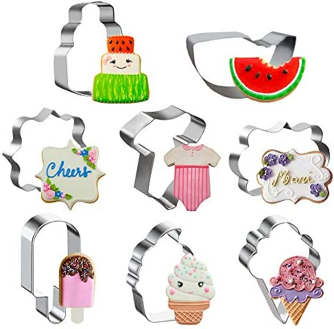 Watermelon Cookie Cutters Stainless Steel Mold Set Summer Themed Party Decorating 8Pcs product image