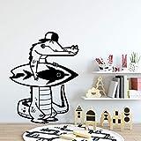 wZUN Pegatinas de Pared de Dinosaurio Autoadhesivas calcomanías de Arte de Pared Impermeables para bebés decoración de la habitación de los niños extraíbles 64x85cm
