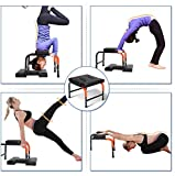 Estink- Yoga Headstand Bench, Multifunctional Yoga Inversion Chair with 2 Foam Pads to Relieve Fatigue, Build Up Body for Workout, Fitness and Gym