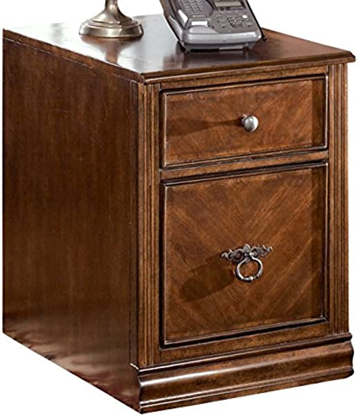 Ashley Furniture Signature Design Hamlyn File Cabinet 1 Drawer 1 File Drawer Traditional Medium Brown Finish