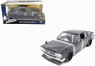 Jada 1: 24 W/B - Fast & Furious - Brian's Nissan Skyline 2000 GT-R (Black) Diecast Vehicle