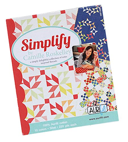 Best Buy! Aurifil Thread Set SIMPLIFY By Camille Roskelley 50wt Cotton 10 Small (220 yard) Spools