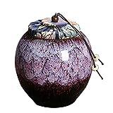 YYAI-HHJU Urna Funeraria para Urnas Biodegradables De Fresno para Mascotas, Vitrina De Cerámica De Urna En Casa/Oficina, 9X 9X 9.5Cm.(Color: C)