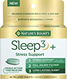 Nature's Bounty Stress Support Melatonin by Sleep3, 10mg, Tri-Layered Tablets, 56 Count