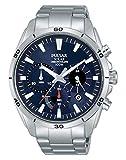 Pulsar Herren Chronograph Solar Uhr mit Edelstahl Armband PZ5057X1