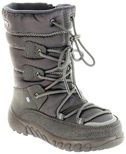 Richter Kinder Winter Stiefel grau Warm Sympatex Mädchen Schuhe WMS 5156-241-6500 Steel Husky, Farbe:grau, Größe:35