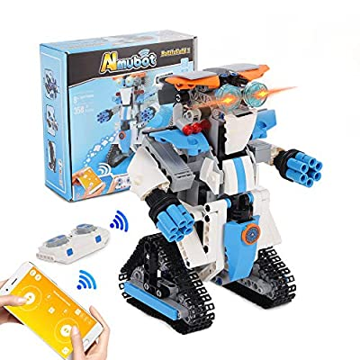 STEM Projects Robots for Kids Kit - RC Robots Erector Educational Engineering Building Blocks Robot Sets Birthday Gift Hands-on Exercise Brain Toys for Boys Ages 8-12 Girls Compatible with Lego