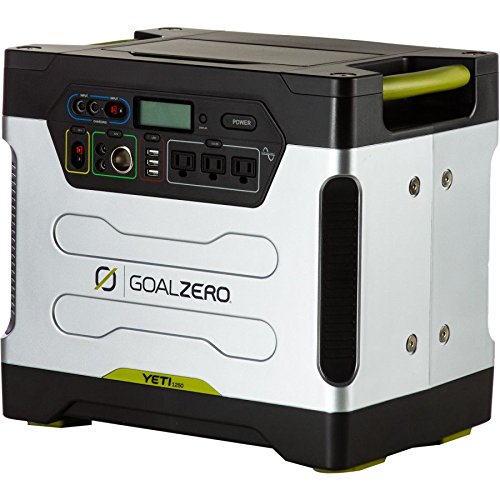 Goalzero Akkumulator Yeti 1250 Solar Generator 220V EURO with Roll Cart and Euro facepalce and cords, silber, 61610