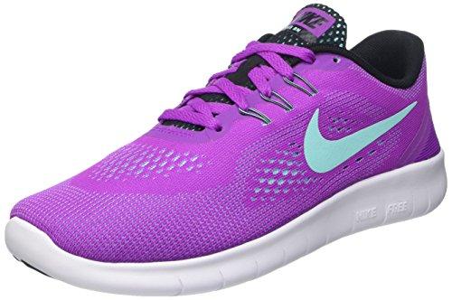 Nike Mädchen Free Run Laufschuhe, Violett (Hyper Violet/Hypr TRQ-Blck-Wht), 36.5 EU