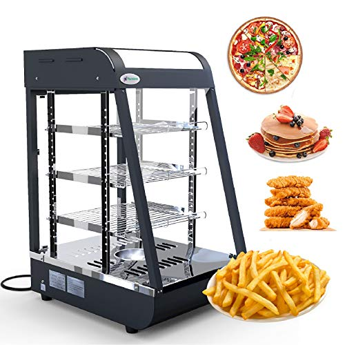 Commercial Food Warmer - Nurxiovo Countertop Pizza Warmers Display L15 x W19 x H25'' Pastry Patty Warmer Case for Buffet Restaurant Shop Heater Food Service