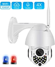 Bullet Surveillance Cameras,1080P Outdoor WiFi PTZ Camera with Siren Light Auto Tracking Cloud Home Security IP Camera 720...