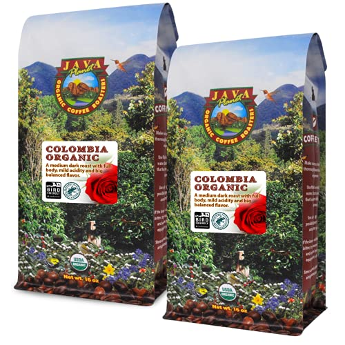 Java Planet, Organic Coffee Beans, Colombian...