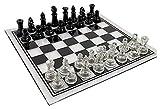 HJUIK Juego de ajedrez de 35 cm x 35 cm, tablero de ajedrez de acrílico grande, antiroto, elegante, juego de ajedrez, juego de ajedrez (color: tablero de ajedrez de 25 cm)