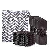 Damero Réutilisables Inserts de Couches (Pack de 12) avec sac a couche Lavable, 5 Couches Inserts de Couches Lavables Compatible avec la Couches tout-en-un ou Couches à poche