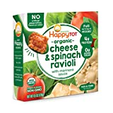Happy Tot Love My Veggies Cheese & Spinach Ravioli Bowl with Marinara Sauce, 4.5 Ounce, 8 Count...