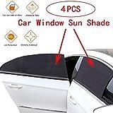 4 STÜCKE Universal Auto Seitenscheibe Sonnenschutz Auto Moskitonetz für Baby Kinder Gesunde Schwarz Auto Vorhänge für Autos