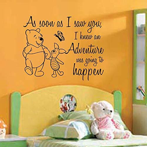 Winnie l'ourson sticker mural Winnie l'ourson cite dès que je vous ai vu décor à la maison chambre décor chambre d'enfant affiche