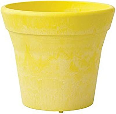 Round Mesa Planter, 8-Inch, Lemon