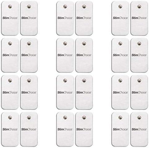 StimChoice TENS Unit Pads Snap Electrodes 2 x 4 24 Pack Premium Quality OTC TENS Pads Compatible product image