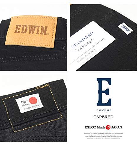 EDWINエドウィンE-STANDARDテーパードデニムジーンズストレッチ日本製パンツメンズESD32(01:ブラック,33インチ)