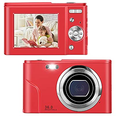 Point Shoot Digital Cameras, Video Camera Mini Camera Vlogging Camera LCD Screen 16X Digital Zoom 36MP Rechargeable Point and Shoot Camera for Compact Portable Kids Teens Gift… by IEBRT