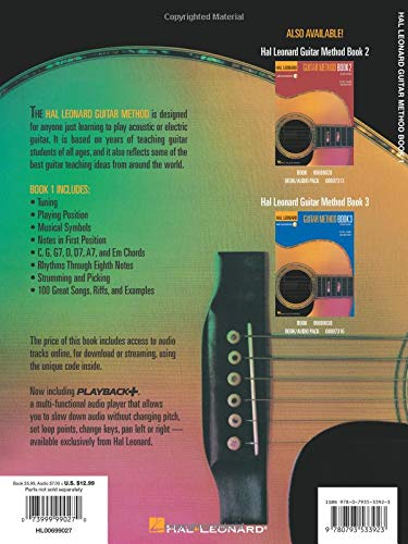Hal Leonard Guitar Method Book 1: Bk/Online Audio