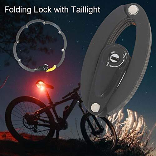 Faro Trasero para Bicicleta, candado Plegable y Conveniente, candado UFO para Tubo de sillín de Varios tamaños