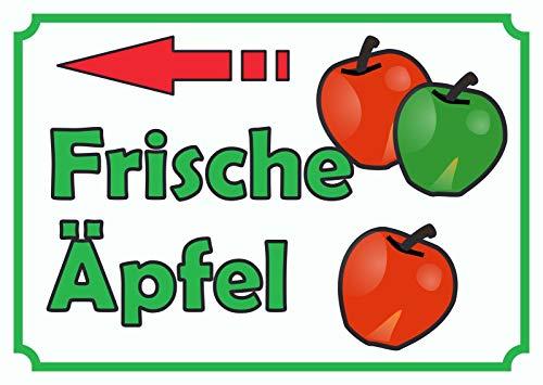 HB-Druck Verkaufsschild Schild Äpfel Links A0 (841x1189mm)