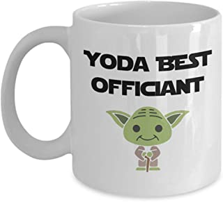 Yoda Best Officiant Gift For Friend, Awesome Wedding Officiant Mug For Brother