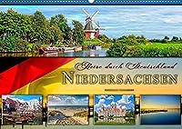 Reise durch Deutschland - Niedersachsen (Wandkalender 2022 DIN A2 quer): Niedersachsen, vielseitiges Bundesland im Norden Deutschlands. (Monatskalender, 14 Seiten )