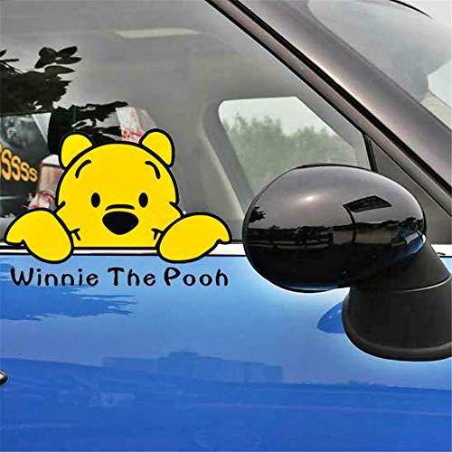 Winnie The Pooh etiqueta de la pared de dibujos animados Winnie Pooh Peeking etiqueta decoración para motocicleta Hyundai nevera armario coche pegatinas