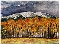 新しいアスペン山脈水彩パズル1000ピース木製大人のジグソーパズルカラー抽象絵画パズル子供のための教育玩具ギフト