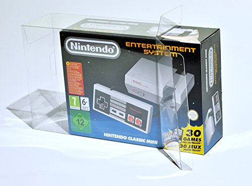 Glacier Games 4 juego de la caja protectora para Nintendo Mini clásico: Nintendo Entertainment System / NES Nintendo Classic Mini caja de adaptación perfecta / Crystal Clear