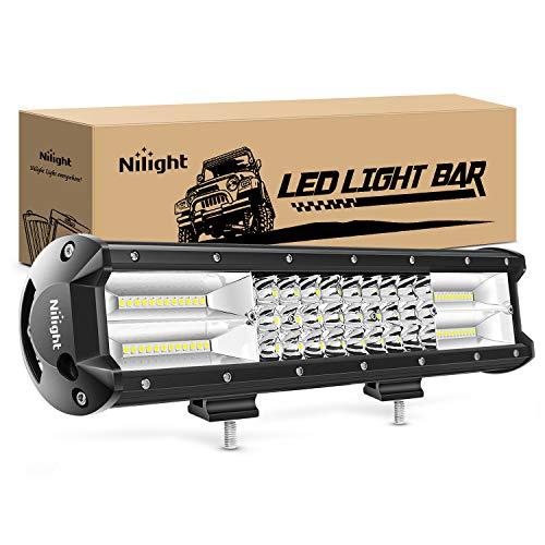 Nilight - 18003C-A 15Inch Triple Row Lights 216W 21600LM Flood Spot Combo Beam LED Light Bar Driving Boat Super Bright Led Off Road Trucks