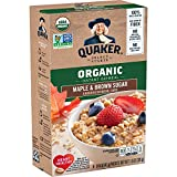 Quaker Instant Oatmeal, USDA Organic, Non-GMO Project Verified, Maple & Brown Sugar, Individual Packets, 48 Count
