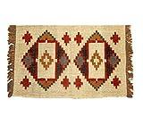 Handwerk Bazarr Combo: Kelim-Teppich Dhurrie, Set mit 5 indischen traditionellen Teppichen, 2 x 90 cm Wolle, Juteteppich, Akzentteppich, umweltfreundlich, erdige Heimdekoration - 7