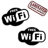 Skino 2Stickers étiquette Signe wi-FI WiFi gratuites Zone Verre vitrine Internet...