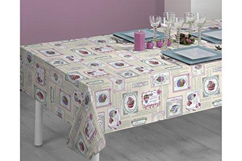 SABANALIA - Mantel de Tela Antimanchas Cupcakes (Disponible en Varias Medidas) - 140 x 140