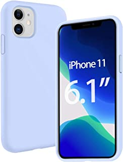 HBorna Liquid Silicone Case Compatible with iPhone 11 6.1 inch(2019),Full Body Shockproof Soft Silicone Case Cover with Premium Microfiber Lining - Light Purple
