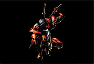 Deadpool Funny Marvel Superhero Wall Art 19x13 Inch Poster HD Matte 300 GSM Thick Reprint | Oyemart Retail