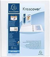 Exacompta Kreacover PPリングバインダー、A4マキシ、4つのDリング、38 mmスパイン - ホワイト