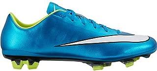 Nike Womens Mercurial Veloce 2 FG Soccer Cleat (Blue Lagoon, Volt) Sz. 10