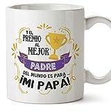 MUGFFINS Taza Papá (Premio al Mejor Padre() - Regalos Originales y Divertidos para el Día del Padre
