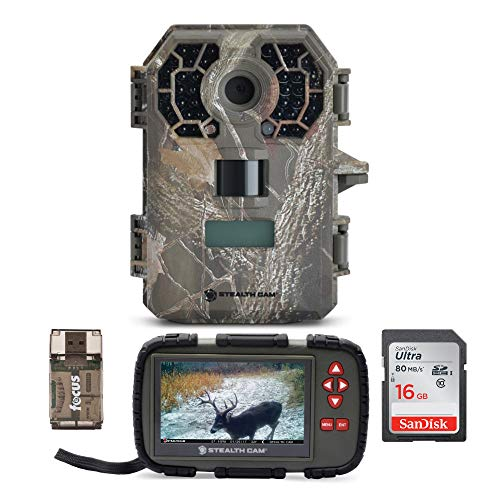 Stealth Cam G42NG No-Glo Trail Camera with Image and Video Viewer (Touch Screen, Compact), Memory Card and Focus USB Reader