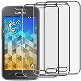 ebestStar - [Lote x3 Cristal Templado Compatible con Samsung Galaxy Trend 2 Lite SM-G318H, Galaxy V Plus Protector Pantalla, Película Dureza 9H, Sin-Burbujas [Aparato: 121.4x62.9x10.7mm 4.0']